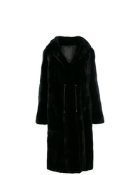Liska Hooded Fur Coat