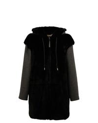 Marni Hooded Rabbit Fur Coat