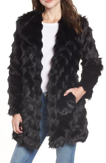 BB Dakota Its All Happening Faux Fur Coat