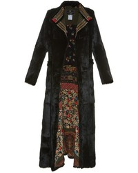 Etro Long Sleeved Embroidered Appliqu Fur Coat