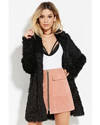 Forever 21 Longline Shaggy Faux Fur Coat