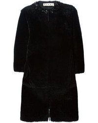 Marni Embellished Shearling Coat