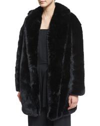 McQ by Alexander McQueen Mcq Alexander Mcqueen Faux Fur Coat Black