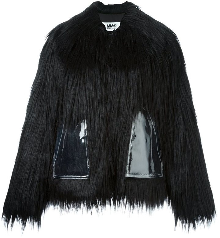 MM6 MAISON MARGIELA Faux Fur Short Coat