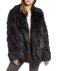 Rachel Rachel Roy Multicolored Faux Fur Jacket