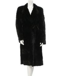 Prada Patterned Mink Coat