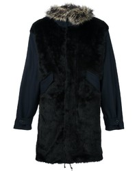 Paul Smith Ps By Furred Effect Coat