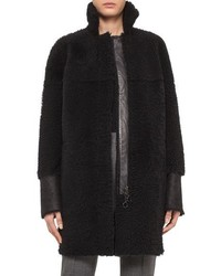 Akris Punto Reversible Genuine Shearling Coat