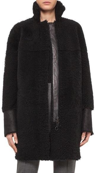 Akris Punto Reversible Genuine Shearling Coat