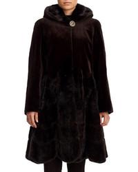 GORSKI Reversible Sheared Mink Fur Coat
