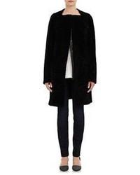 Proenza Schouler Shearling Coat Black