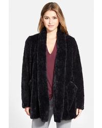 Kenneth Cole New York Teddy Bear Faux Fur Clutch Coat