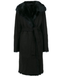 Black fur collar coat original 10133322