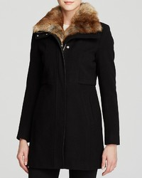 Andrew Marc Marc New York Haven Faux Fur Collar Coat
