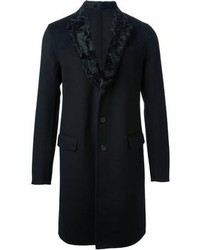 Ermanno Scervino Fur Trimmed Collar Coat