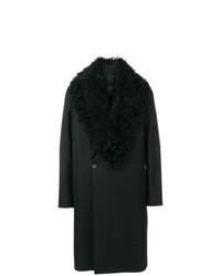 Emporio Armani Faux Shearling Collar Coat
