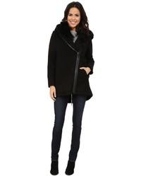 Vince Camuto Fur Hood Sweater Coat J8241 Sweater