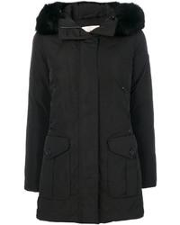 Fur trim coat medium 4470106