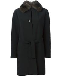 Liska Weasel Fur Collar Coat