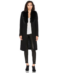 Olcay Gulsen Orora Coat With Faux Fur Collar