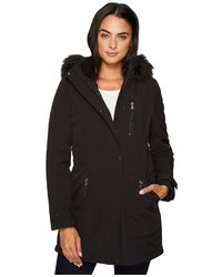Softshell with sherpa lining and detachable fur trimmed hood coat medium 5257774