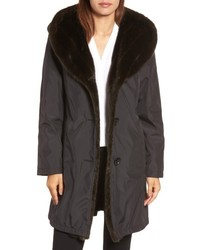 Gallery Storm Coat With Faux Fur Trim Lining