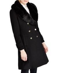 Lauren Ralph Lauren Wool Blend Coat With Faux