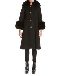 Saks Potts Yvonne Wool Coat With Genuine Fox