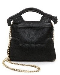 Black Fur Crossbody Bag