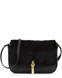 Elizabeth and James Cynnie Nano Shearling Fur Crossbody Bag Black