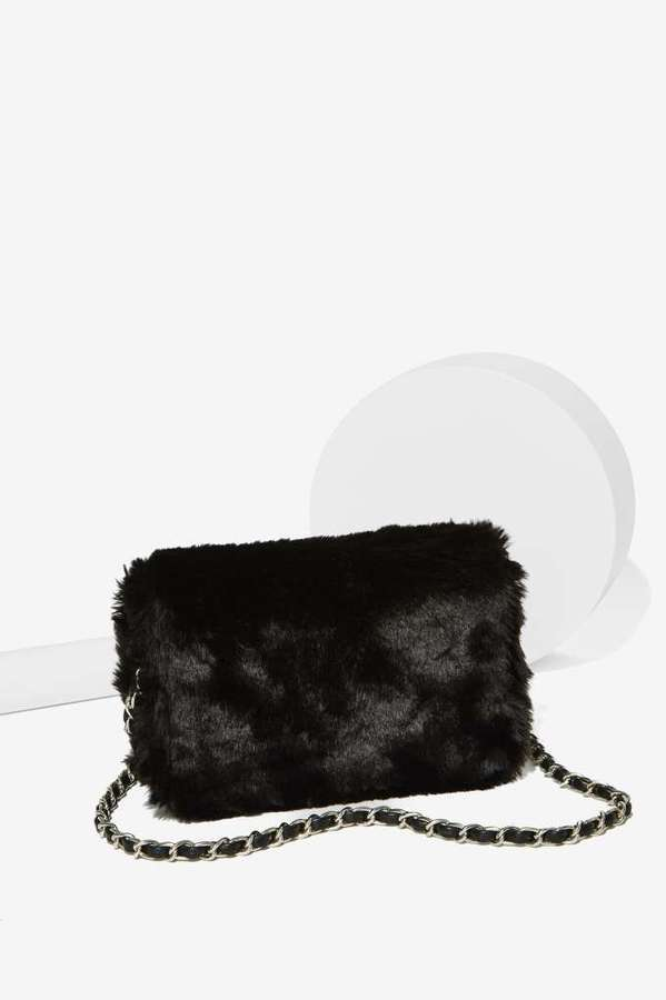 661bbbf9ba87 ... Black Fur Crossbody Bags Factory Estrella Faux Fur Crossbody Bag ...