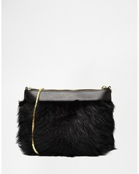 Ted Baker Faux Fur Chain Cross Body Bag
