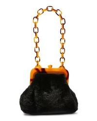 Topshop Faux Fur Frame Shoulder Bag