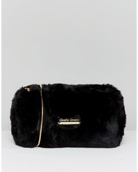 Claudia Canova Soft Faux Fur Cross Body Bag With Opening And Metal Detail