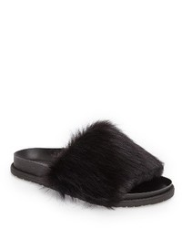 Faux fur slide sandal medium 1248008