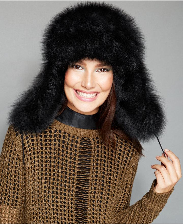 9e0db23cf $650, The Fur Vault Black Fox Fur Trapper Hat