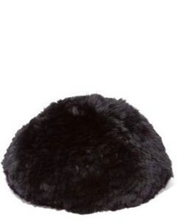 Saks Fifth Avenue Collection Sheared Rabbit Fur Beret
