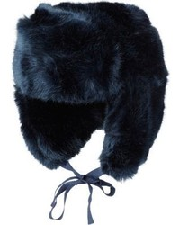 Imposter Faux Fur Trapper Hat Blue