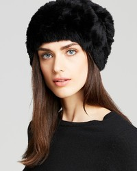 Surell Rabbit Fur Knit Slouchy Hat