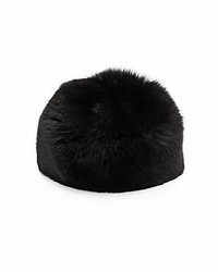Saks Fifth Avenue Fox Fur Bubble Hat
