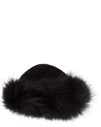 Salvatore Ferragamo Fur Trim Hat