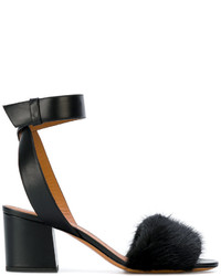 Givenchy Open Toe Block Heel Sandals
