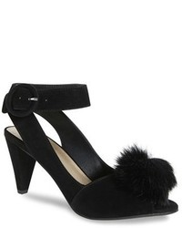 Seduce genuine rabbit fur pompom sandal medium 1158336