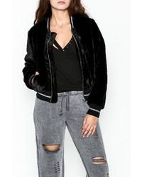 Solemio Black Fur Jacket
