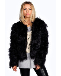 Boohoo Aimee Shaggy Faux Fur Coat