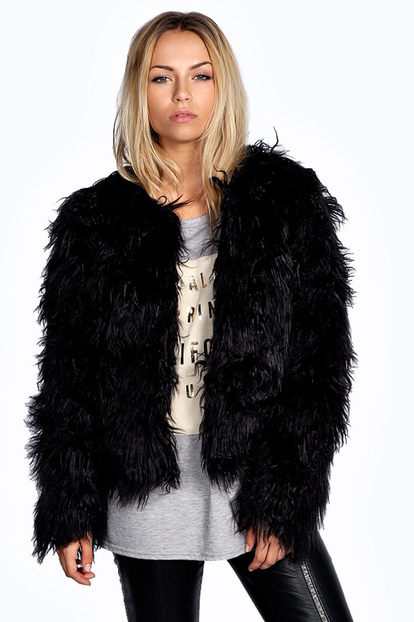 Boohoo Aimee Shaggy Faux Fur Coat | Where to buy & how to wear