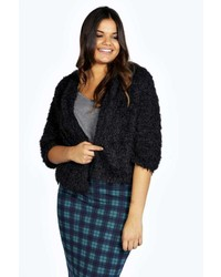 Boohoo Anastasia Faux Fur Cropped Jacket