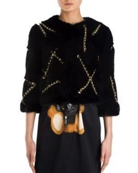 Moschino Chain Minx Faux Fur Jacket