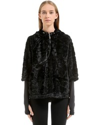 Curve zip track jacket w faux fur medium 6448685