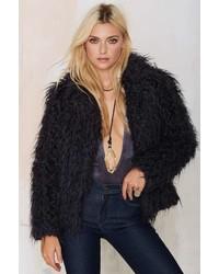 Factory Super Trash Odia Faux Fur Coat